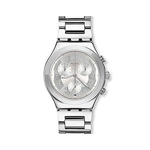 Swatch Reloj Cronógrafo para Mujer de Cuarzo con Correa en Acero Inoxidable YCS604G