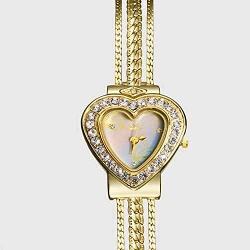 Man-hj Mit kleinem Zifferblatt und Diamant hohlen Armband, lässige Uhren für Frauen n Quarz Silber Armbanduhr Uhren