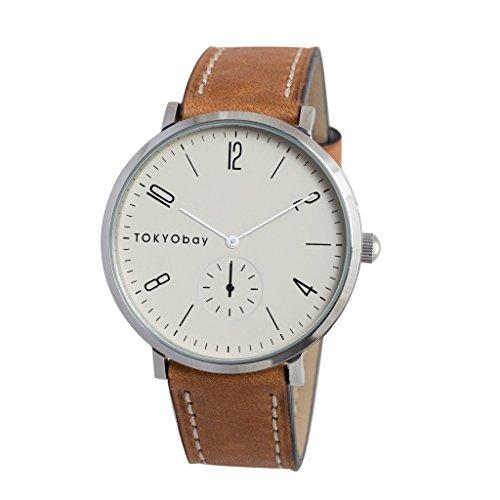 tokyobay-t336-br-hommes-de-bande-en-cuir-marron-cadran-blanc-en-acier-inoxydable-montre-intelligente