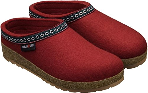 Haflinger Franzl 711001, Pantofole donna Rubin (rosso)