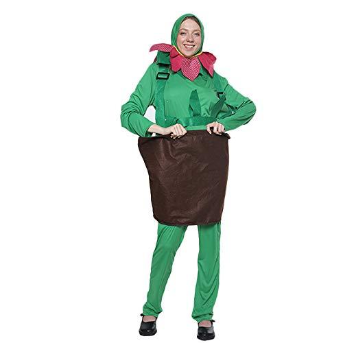 RANRAN Grünpflanze Blumentopf spielt Kostüm Bühnenkostüm Cosplay - Machen Blumentopf Kostüm