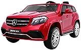 Kinderauto Elektroauto Kinderfahrzeug Spielzeug Elektrofahrzeuge - Mercedes Benz GLS 63 AMG 4WD 2-Sitzer - Rot Lackiert