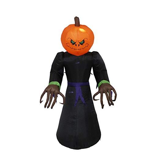 SJZC Dekorationen Halloween 2,2 Meter Aufblasbare Kürbis Kopf ()