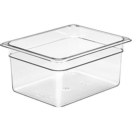 Camwear Food Pan, Plastic, 1/2 Size, 6'' Deep, Polycarbonate, Clear, Nsf (6 Pieces/Unit) by Cambro Camwear Food Pan