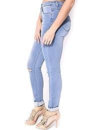 Soft jeans délavé déchiré