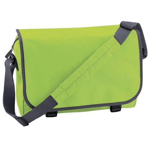 Bagbase - Borsa a tracolla regolabile - 11 Litri Lime/Grafite