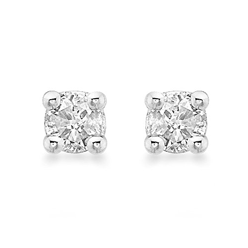 Carissima Gold Women's 9 ct Yellow Gold 0.15 ct Diamond Solitaire 3 mm Stud Earrings