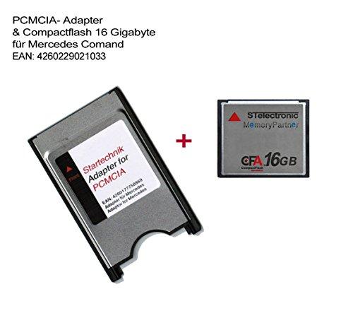 STElectronic PCMCIA Adapter mit CompactFlash Speicherkarte Maximum Kapazität: 16GB für Mercedes COMAND APS* PCMCIA-Adapter APS Code 527 513 - mit CF Speicherkarte 16 Gigabyte - 16 GB Compactflash-adapter Plug