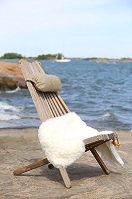 Jardinion Design Holz-Stuhl Relax-Liege Kimi, Esche Grau, Klapp-Sitz Verstellbar Öko Nachhaltig, Garten, Innenraum, Finnland von Jardinion auf Gartenmöbel von Du und Dein Garten