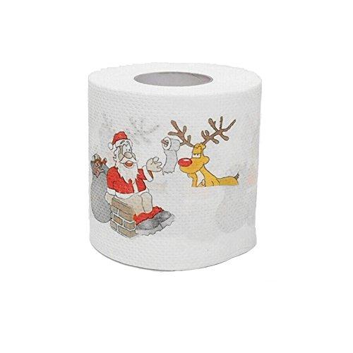 Santa WC-Papier glodenbridge Santa Claus Weihnachten WC-Papier Tisch Wohnzimmer Badezimmer Tissue