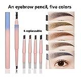 Crayon à Sourcils, Avec Brosse à Sourcil , Crayon de Maquillage, Eyebrow Pencil à...