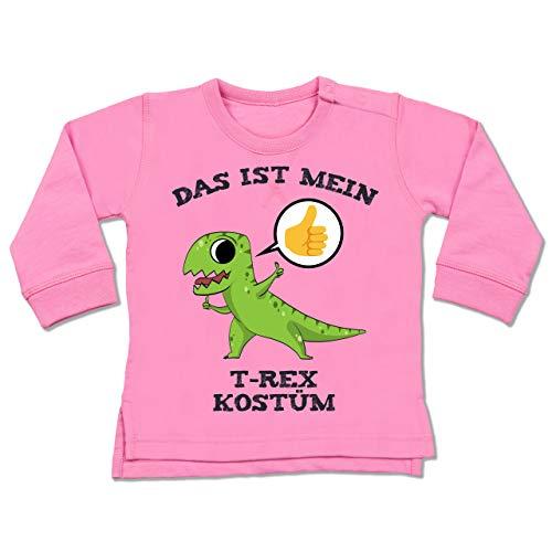 Shirtracer Karneval und Fasching Baby - Das ist Mein T-Rex Kostüm Comic - 18-24 Monate - Pink - BZ31 - Baby Pullover (Trex Baby Kostüm)