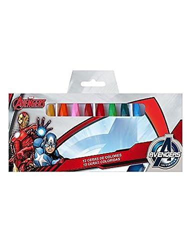 AVENGERS MARVEL boite de 12 crayons de cire de couleurs