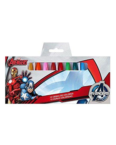 AVENGERS MARVEL Box mit 12 Farben Wachse