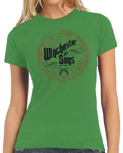 Touchlines Damen Kontrast Tank Top Winchester and Sons Women's T-Shirt, kelly green, XXL, B110513LT