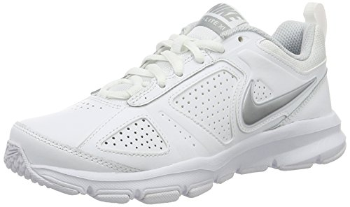 Nike - T-lite Xi, Scarpe fitness Donna, Bianco (White/Metallic Silver-Pure Platinum-Black), 36 EU