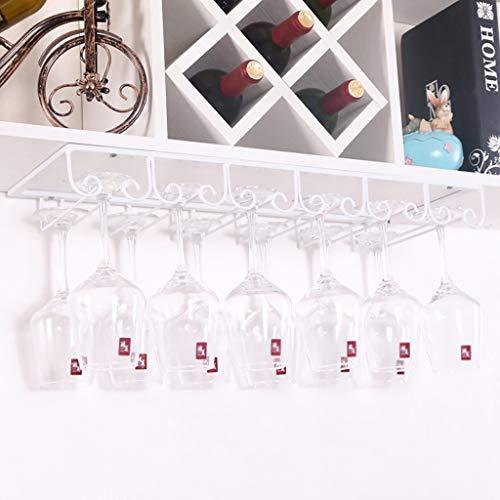ZYFJJ Weinregale Weinglashalter, umgekehrter hoher Glashalter, europäischer Weinglashalter,...