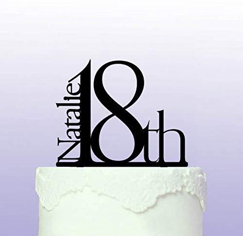 Elegante Kuchendekoration zum 18. Geburtstag