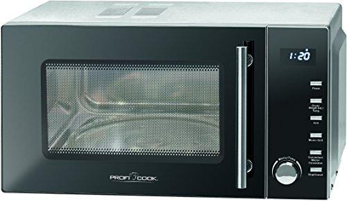 ProfiCook PC-MWG 1118 H Mikrowelle 23 L / 1950 Watt Grill / 1950 Watt Heißluft / Elektronische Steuerung / LED-Display / Edelstahlgehäuse