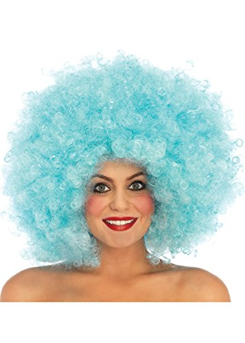 Womens Deluxe 70s Blue Afro Perücke (Afro Perücke Deluxe)
