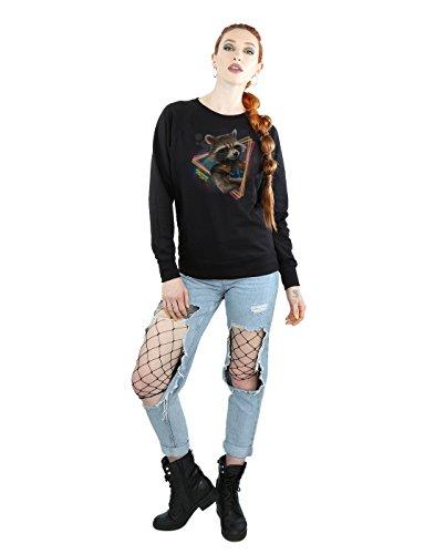 Marvel Femme Guardians of the Galaxy Neon Rocket Sweat-Shirt Noir