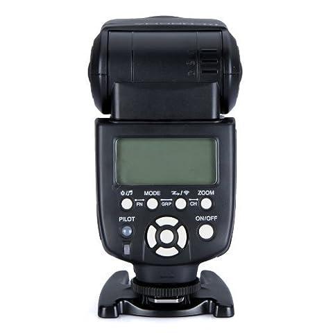 Yongnuo YN560-III Speedlite Flash manuel avec écran LCD pour Nikon D3s, D3x, D3, D700, D300s, D300, D200, D100, D90, D80, D70s, D7000, D5100, D5000, D3100, D3000, D60, D40X DSLR, appareils SLR Canon, Nikon, Olympus, Pentax, et Sigma, transmetteurs RF-602 ou 603 Puissance 58 guides Modes manuel et multi-flashs