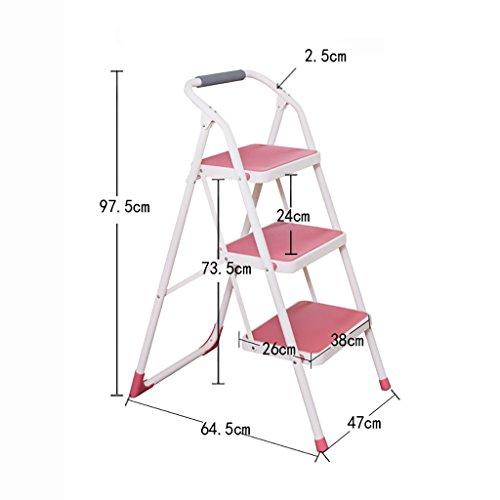 Stufenhocker, europäischen Stil Einfach Dreifarbig, Leiter dreistufigen Haushalt Klappleiter...