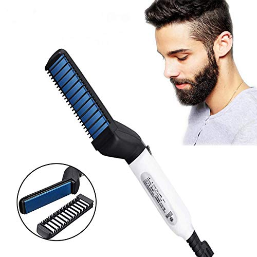 Vmoni Men's Quick Beard Straightening, Curly Hair, Magic Massage, Permed Clip Comb for Flexible Modeling