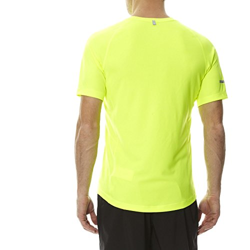 NIKE Herren Kurzarm Shirt Miler UV Team 702 volt/volt/reflec