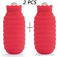 HABITREE Wärmflasche Mit Strickabdeckung Klein/Explosionsgeschützt Silikon Heißwasserbeutel Für Kinder/Schmerzlinderung... preisvergleich bei billige-tabletten.eu