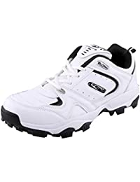 Lancer Men's Whit and Blue Synthetic Running Shoes (L-CRICKET-$P)