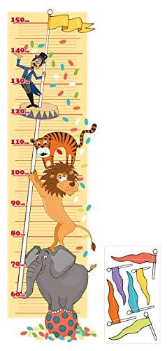 Wandtattoo Kinderzimmer Messlatte Zirkus zum kleben, beschriften