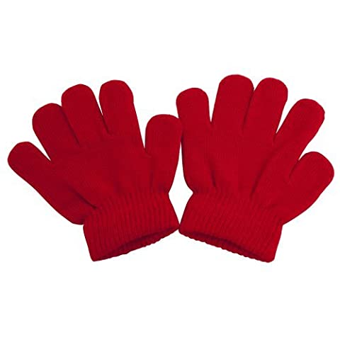 Childrens/Kids Winter Magic Gloves (One Size) (Red)