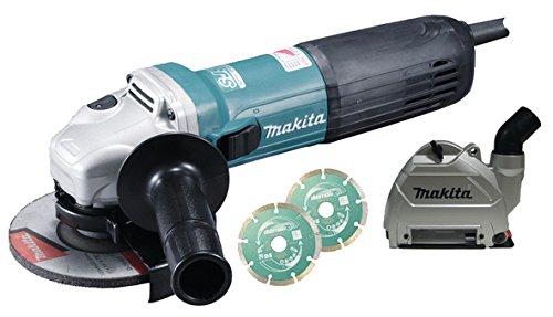 Makita GA5040CJD1 Smerigliatrice angolare 125mm 1400W + 2 dischi diamantati