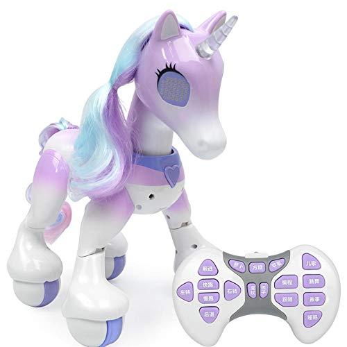 Zhichu Enchanted Einhorn Spielzeug Elektrische Intelligente Pferd Fernbedienung Einhorn Roboter Touch Induktion Elektronische für Kinder Mädchen Pädagogisches Spielzeug Bunte