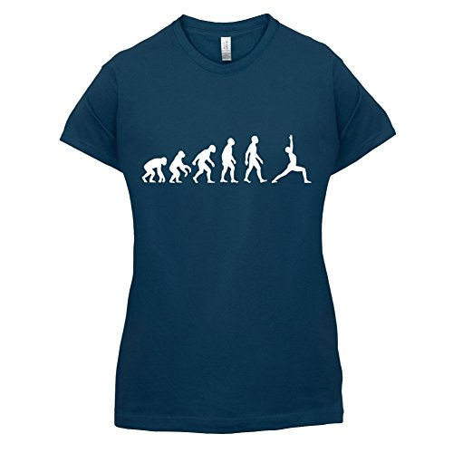 Evolution Of Man Yoga - Damen T-Shirt - 14 Farben Navy