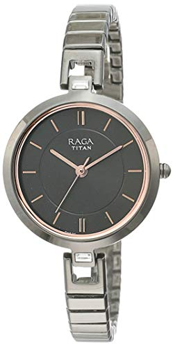 Titan Raga Viva Analog Grey Dial Women's Watch - 2603QM01