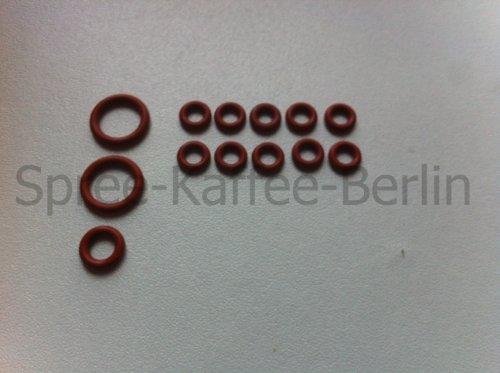 SKB Jeu de joints Convient pour bec de SAECO Embout avec tuyau pression Joints - Set de 40