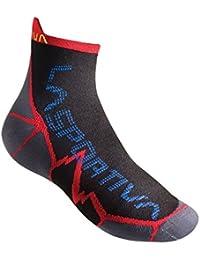 La Sportiva - Long Distance Socks, color rojo,negro, talla XL