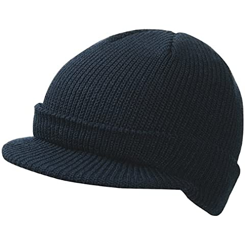 Gorro de punto de moda con visera corta integrada Knitted Cap with Peak en diferentes colores