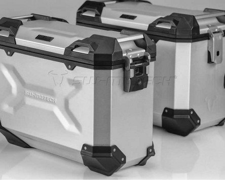 Preisvergleich Produktbild Koffersystem TRAX ADV Silber. 45 / 37 L. BMW R 1200 GS LC / Adventure.