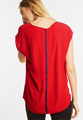 Street One - Chemisier - Uni - Manches Courtes - Femme big red (rot)