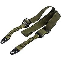 phifo regolabile Caccia 2due punto fucile Sling Bungee Tactical Shotgun Sistema di cinghie, Army Green