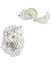 Crystal Owl Trinket Box - Ornament - Treasured Trinkets