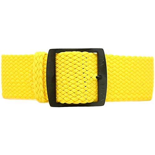 Daluca Perlon, colore giallo (fibbia PVD): 22mm
