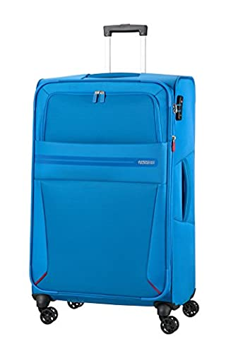 AMERICAN TOURISTER Summer Voyager - Spinner 79/29 Expandable Bagage cabine, 79 cm, 112 liters, Bleu (Breeze Blue)