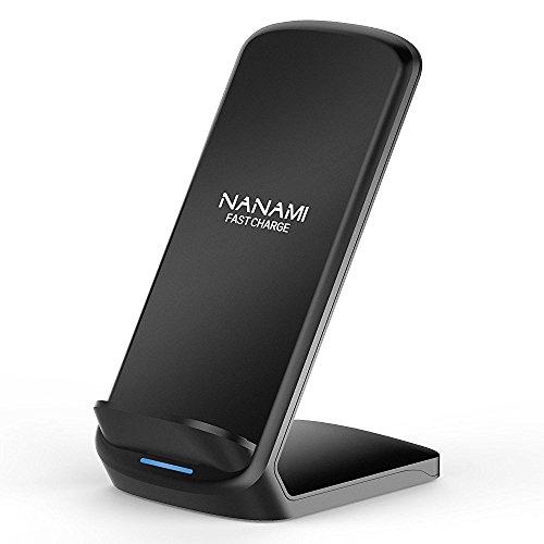 NANAMI Fast Wireless Charger, 7.5W induktions ladegerät für iPhone 11/11 pro/X/XS/XS Max/XR/ 8/8 Plus,10W Qi Induktive Ladestation Schnellladestation für Samsung Galaxy S10 S10e S9 S8 S7 edge Note 9/8