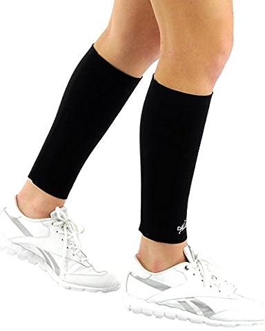 Delfin Spa Lot de 2 manchons de compression Femme Noir FR : S (Taille Fabricant : S (29,2-33 cm))