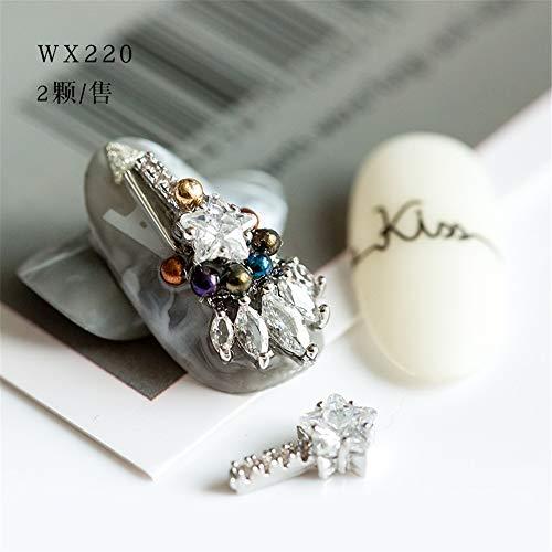 Strasssteine,Diamant Nägel Mode Temperament Einfache Persönlichkeit Wild Damen Schmuck 6 / Tasche, Wx220