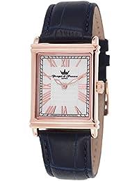 Yonger & Bresson HCR 1706 03 - Reloj de hombre, movimiento de cuarzo, analógico, correa de piel marrón, caja de plata